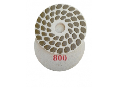 Wool felt polishing pads
